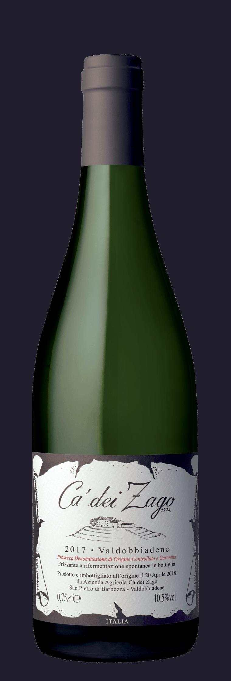 Prosecco Col Fondo bottle