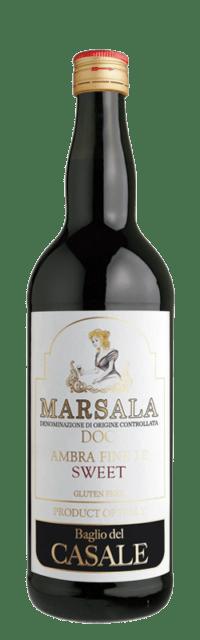 Marsala DOC Ambra Fine I.P. Sweet  bottle