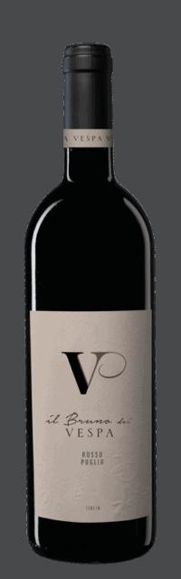 Il Bruno dei Vespa Primitivo Salento IGT bottle